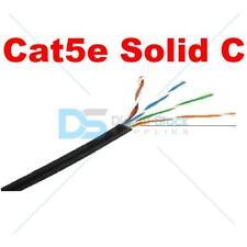 Solido Cat5e cavo esterno PE NERO 100 M Reel RAME networking Ethernet