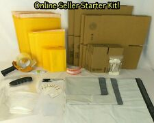 Shipping Supply Starter Kit Padded Envelopes Tape Retail Bags Thank You Cards