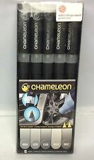 CHAMELEON ART PRODUCTS CACT0509  CHAMELEON COLOR TONES 5 PEN GRAY TONES SET
