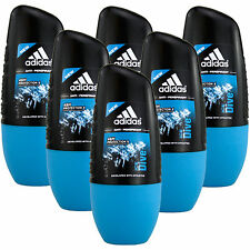 6 x 50ml Adidas Ice Dive Roll On Deo Deodorant Rollon Deostick Herrendeo