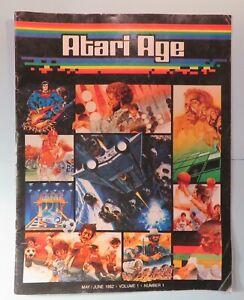 Original 1982 Atari Age Club Video Game Magazine Vol 1 # 1 Premier First Issue