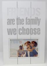 "Rustic Cut Out Friends Are The Family We Choose Wooden Panel Photo Frame 6""x4"""