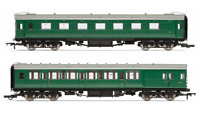 Hornby R4534E BR Pull Push Coach Pack BR Maunsell 2nd Open Brake Comp Coaches