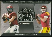2018 Leaf Metal Draft Football Sealed HOBBY BOX (5 Autos per box!)