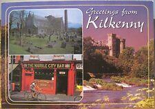 Irish Postcard KILKENNY Multiview Ireland Castle Marble City Bar J Hinde 2/829