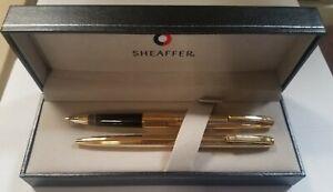Sheaffer Vintage  Set 727 14 kt. Gold Fine Pt Fountain Pen  & Ballpoint Pen New