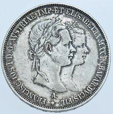 Austria, Franz Joseph, 2 Florins, 1854-a silver coin AEF/EF
