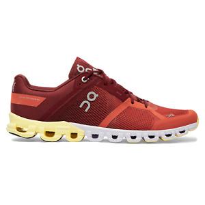 ON CLOUD Cloudflow Cloudtec Running Shoes Rust Limelight Men Sz 9.5 Retail $140