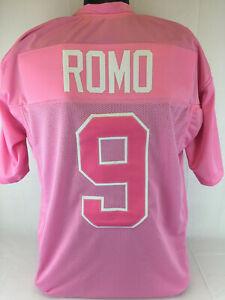 Tony Romo Unsigned Custom Sewn Pink Football Jersey Sz S,M,L,XL,2XL Charity
