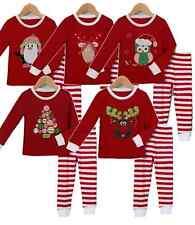 Pijamas y batas de niña de 2 a 16 años rojos conjunto