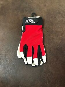 Rugged Wear Men Hi-Dexterity Red-Beige Leather Work/Drive Glove LG. (2-PO-1)
