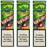 JUICY ORGANIC WRAPS Rolling Papers 3 Pack (6pcs) Strawberry (Red Alert)