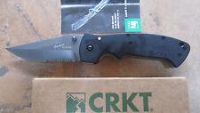 CRKT 6783Z CRAWFORD KASPER BLACK TACTICAL LARGE ZYTEL FOLDER KNIFE NEW SERRATED