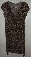 NEW!  WOMENS maurices Studio Y BROWN PRINT KNIT DRESS  SIZE M
