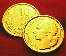 OR/GOLD  PL  10 FRANCS  GUIRAUD 1953   EDITION LIMITEE  RARE