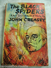 The Black Spiders John Creasey Vintage 1st UK hcdj 1957 A15