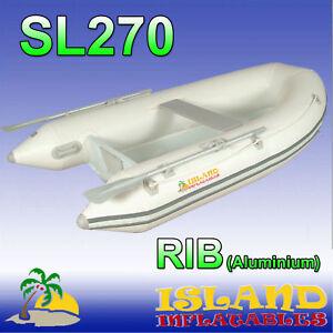 2.7m RIB Island Inflatable Boat SL270 Aluminium bottom.(Light Weight 48kg) ✱NEW✱