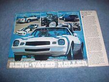 "1980 Chevy Camaro Z/28 Vintage Pro Street Article ""Reno-Vated Roller"""