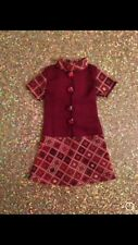 OOAK BLYTHE DOLL CLOTHES OUTFIT DRESS BURGUNDY VICTORIAN  ~