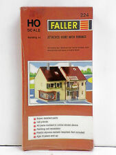 "FALLER HO U/A ""ATTACHED HOME WITH TERRACE"" PLASTIC MODEL KIT #224"