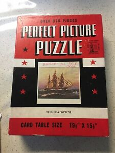 """Perfect Picture Jigsaw Puzzle THE SEA WITCH 15.5""""x19.5"""" Vintage 1930's  Complete"""
