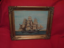 Original William Rank Ship Theorem Painting Rare Great Condition Listed Artist