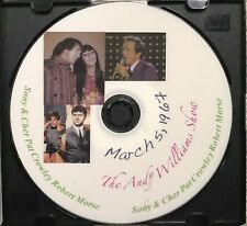 THE ANDY WILLIAMS SHOW March 5, 1967  Color DVD Sonny & Cher Pat Crowley R Morse