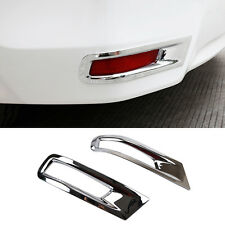 Fit For Toyota Corolla Altis 14-17 Chrome Rear Bumper Fog Light Lamp Cover Trim