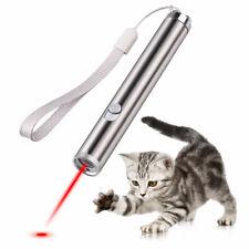 Dv_ Interactive Pet Cat Laser Pointer Toy Joyful Flashlight Led Light Red Welcom