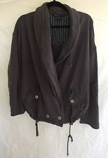 Marc Jacob Sz M/L Women's Distressed Gray High Low Sweater Jacket