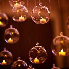 10pcs Christmas Hanging Decoration Glass Baubles Tealight Candle Holder 8cm