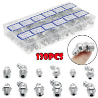 130x Hydraulic Grease Nipples Fitting Metric Imperial BSP UNF M6 M8 M10 45° 180°