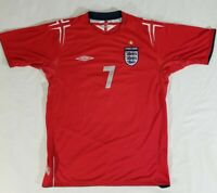 Umbro XStatic David Beckham England World Cup Red Away #7 Jersey 2004 2006 Men L