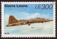 Boeing B-17/B-17G FLYING FORTRESS WWII Aircraft Stamp (1995 Sierra Leone SG2340)