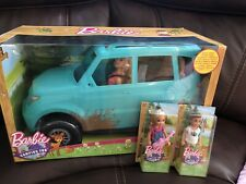 New! Barbie Camping Fun Doll and Teal Off-Road Adventure Vehicle + Chelsea Dolls