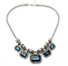 N837 Betsey Johnson Victorian Blue Rhinestone Wedding Accessories Necklace US