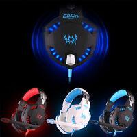 JE G2100 Professional Gaming Kopfhörer Stereo Bass LED für PC Gamer