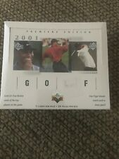 2001 UD Upper Deck Golf Factory Sealed Box Tiger Woods RC Rookie, Autos, Inserts