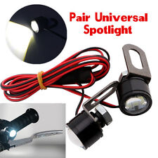 2X Super Bright Spotlight LED Motorcycle Handlebar Rearmirror Headlight Fog Lamp