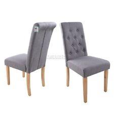 Chaises gris en tissu pour le bureau