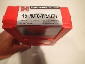 Hornady 45acp / 45 auto rim Auto Reloading Die Set Titanium Nitride Dies
