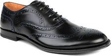 """NIB Paul Smith $575 Black Leather """"Jacob"""" brogues. US 12. Made in Italy."""