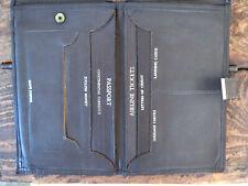 "Vintage 1950s / 60s Brown Leather Travel Wallet Men Women 4.5"" x 7"""