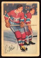 """1953 54 PARKHURST #20 EDDIE """"SPIDER"""" MAZUR VG MONTREAL CANADIENS HOCKEY"""