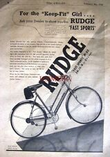 1938 RUDGE 'Fast Sports No.82' Vintage Lady's Bicycle ADVERT - Cycling Print Ad