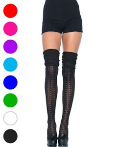 Cozy Patterned Thigh High Stockings - Leg Avenue 6906