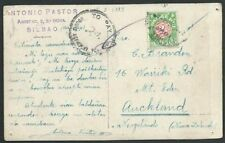 NEW ZEALAND 1933 postcard ex SPAIN taxed, NZ 1d postage due added..........60280