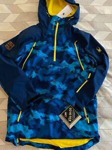 US Ski Team Freeski Spyder Anorak Jacket Men's Large Blue Camo NEW with tags