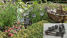 Lot 10 étiquettes jardin ardoise-naturel-déco-plantes-semis-graines-fleur-labels