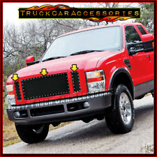 For FORD F250 F350 F450 F550 2008 2009 2010 Black Mesh Rivet 3PC REPLACE Grille